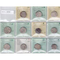 MUGHAL: Jahandar, 1712-1713, LOT of 11 silver rupees