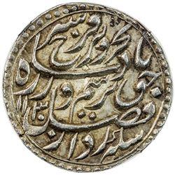 MUGHAL: Farrukhsiyar, 1713-1719, AR rupee, Multan, AH1130 year 7. NGC MS62