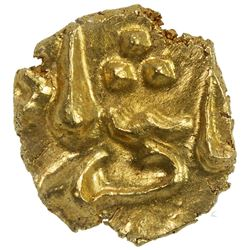 MUGHAL: Ahmad Shah Bahadur, 1748-1754, AV fanam, Balapur, ND. NGC MS64