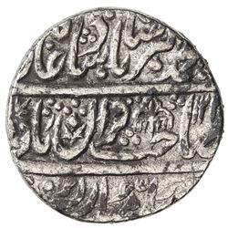 MUGHAL: Muhammad Akbar II, 1806-1837, AR rupee (11.09g), Shahjahanabad, AH122x year one. VF