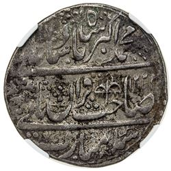 MUGHAL: Muhammad Akbar II, 1806-1837, AR nazarana rupee, Shahjahanabad (Delhi), AH1223 year 3. NGC V
