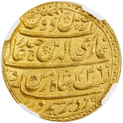 AWADH: Ghazi-ud-Din Haidar, 1819-1827, AV ashrafi (mohur), AH1236 year 2. NGC MS62