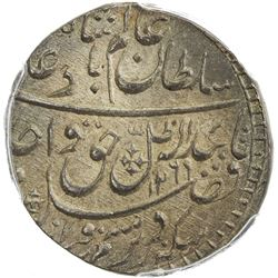 AWADH: Wajid Ali Shah, 1847-1858, AR rupee, Lucknow, AH1269 year 6. PCGS MS66