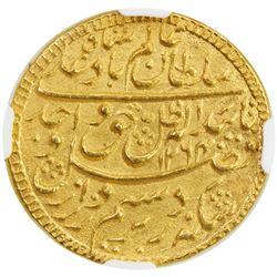 AWADH: Wajid Ali Shah, 1847-1856, AV ashrafi (mohur), Lucknow, AH1264 year 2. NGC MS65