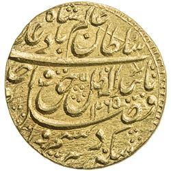 AWADH: Wajid Ali Shah, 1847-1856, AV ashrafi (mohur) (10.71g), Lucknow, AH1265 year 3. BU