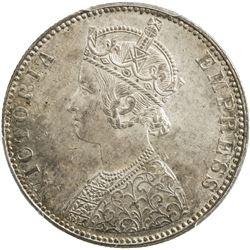 BIKANIR: Ganga Singh, 1887-1912, AR rupee, 1892. PCGS MS64