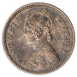 DEWAS SENIOR BRANCH: Victoria, Empress, 1876-1901, 1/12 anna, 1888. VF-EF