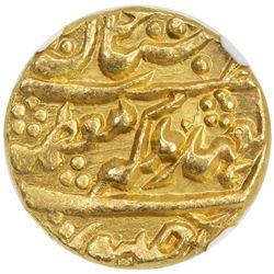 JAIPUR: Ram Singh, 1835-1880, AV mohur, Sawai Jaipur (1858) year 23. NGC MS64