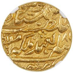 JAIPUR: Ram Singh, 1835-1880, AV mohur, Sawai Jaipur, 185(8) year 23. NGC MS65