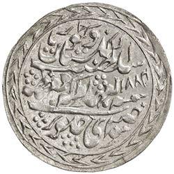 JAIPUR: Madho Singh II, 1880-1922, AR nazarana rupee (11.25g), Sawai Jaipur, 1884 year 5. UNC