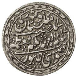 JAIPUR: Madho Singh II, 1880-1922, AR nazarana rupee (11.37g), Sawai Jaipur, 1897 year 18. EF