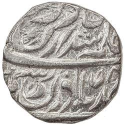 """JIND: Bhag Singh, 1789-1819, AR rupee (11.06g), """"Sahrind"""", ND. EF-AU"""