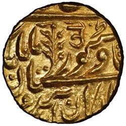 JODHPUR: Jaswant Singh, 1873-1895, AV mohur (10.97g), Jodhpur, ND (1885-1887). PCGS MS64