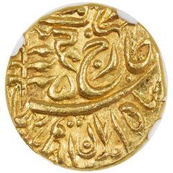 JODHPUR: Sumer Singh, 1911-1918, AV mohur (10.99g), Jodhpur, ND. NGC MS64