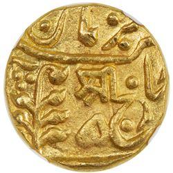 JODHPUR: Umaid Singh, 1918-1947, AV mohur (10.97g), Jodhpur, ND. NGC MS62