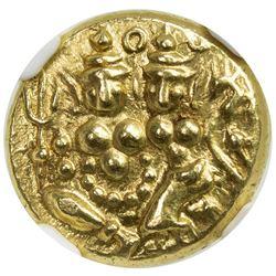 MYSORE: Krishna Raja Wodeyar, 1799-1868, AV pagoda. NGC MS62
