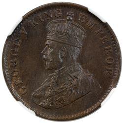 SAILANA: George V, 1910-1936, AE 1/4 anna, 1912. NGC MS63