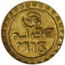 TRAVANCORE: Rama Varma III, 1829-1847, AV Tulabharam 1/4 pagoda, ND. NGC MS63