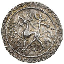 TRIPURA: Rajadhara Manikya, 1586-1599, AR tanka (10.81g), SE1508. VF-EF