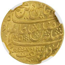 BENGAL PRESIDENCY: 1793-1818, AV mohur, Murshidabad, AH1202 year 19 (frozen). NGC MS63