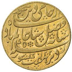 """BENGAL PRESIDENCY: 1793-1818, AV mohur (12.36g), """"Murshidabad"""", AH1202 year 19 (frozen). AU"""