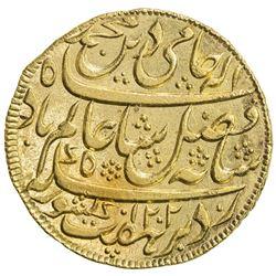 BENGAL PRESIDENCY: 1793-1818, AV mohur (12.36g), Murshidabad, AH1202 year 19 (frozen). UNC