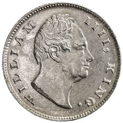 BRITISH INDIA: William IV, 1830-1837, AR rupee, 1835(c). AU
