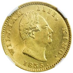 BRITISH INDIA: William IV, 1830-1837, AV mohur, 1835(c). NGC MS63