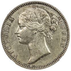 BRITISH INDIA: Victoria, Queen, 1837-1876, AR rupee, 1840(m). NGC AU58