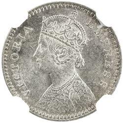 BRITISH INDIA: Victoria, Empress, 1876-1901, AR 2 annas, 1878(c)