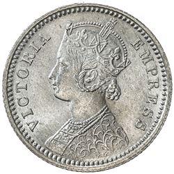 BRITISH INDIA: Victoria, Empress, 1876-1901, AR 1/4 rupee, 1879-C. UNC