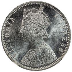BRITISH INDIA: Victoria, Empress, 1876-1901, AR rupee, 1901(c). NGC MS63