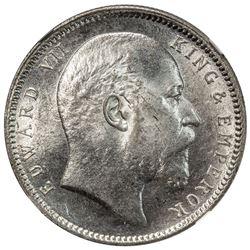 BRITISH INDIA: Edward VII, 1901-1910, AR rupee, 1903(c). NGC MS64