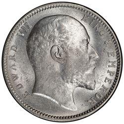 BRITISH INDIA: Edward VII, 1901-1910, AR rupee, 1903(c). PCGS MS62