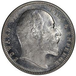 BRITISH INDIA: Edward VII, 1901-1910, AR rupee, 1903(B). PCGS MS61