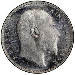 BRITISH INDIA: Edward VII, 1901-1910, AR rupee, 1904(B). PCGS MS63