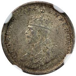 BRITISH INDIA: George V, 1910-1936, AR 2 annas, 1911(c). NGC MS63
