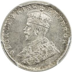 BRITISH INDIA: George V, 1910-1936, AR 2 annas, 1915(b). PCGS MS64