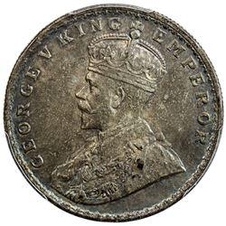 BRITISH INDIA: George V, 1910-1936, AR rupee, ND. PCGS AU55