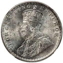 BRITISH INDIA: George V, 1910-1936, AR rupee, 1914(c). NGC MS63