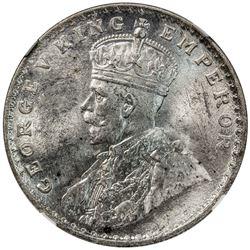 BRITISH INDIA: George V, 1910-1936, AR rupee, 1916(b). NGC MS64
