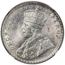 BRITISH INDIA: George V, 1910-1936, AR rupee, 1916(b). NGC MS63