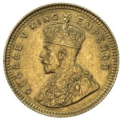 BRITISH INDIA: George V, 1910-1936, AV 15 rupees (7.98g), [Calcutta], 1918. AU
