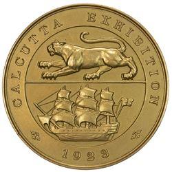 BRITISH INDIA: George V, 1910-1936, AV medal (72g), 1923. UNC
