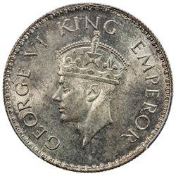 BRITISH INDIA: George VI, 1936-1947, AR rupee, 1938(b). PCGS MS63