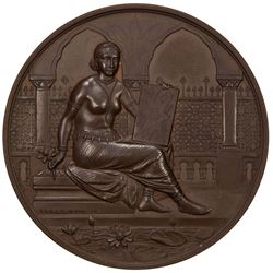 BRITISH INDIA: AE award medal, 51mm, Bengal Photographic Society, UNC