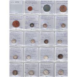 BRITISH INDIA: LOT of 37 coins