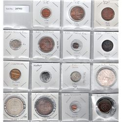 BRITISH INDIA & PRINCELY STATES: LOT of 7 British India & 8 Princely State coins
