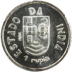 PORTUGUESE INDIA: AR rupia, 1935. PCGS SP66