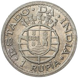 PORTUGUESE INDIA: AR rupia, 1947, KM-27, one year type, Choice UNC
